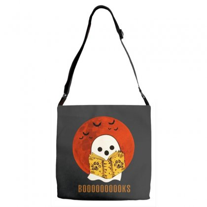Boo Read Books Fuuny Halloween Boo Adjustable Strap Totes Designed By Pinkanzee