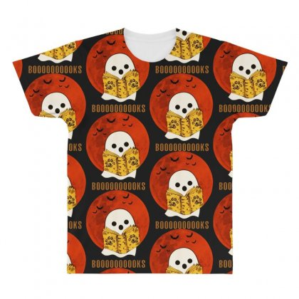Boo Read Books Fuuny Halloween Boo All Over Men's T-shirt Designed By Pinkanzee