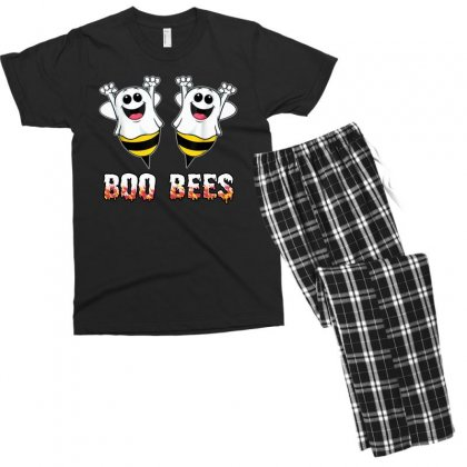 Boo Bees Couples Halloween Costume Men's T-shirt Pajama Set Designed By Pinkanzee