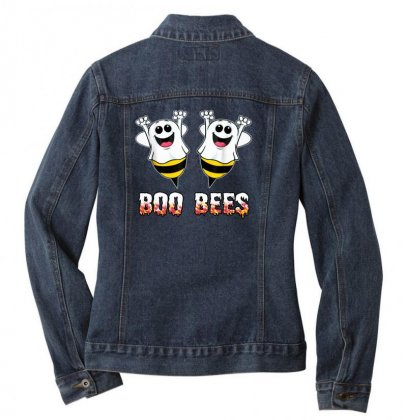 Boo Bees Couples Halloween Costume Ladies Denim Jacket Designed By Pinkanzee