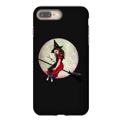 Alice In Wonderland Witch Flying On Broom Halloween Costume Iphone 8 Plus Case Designed By Pinkanzee
