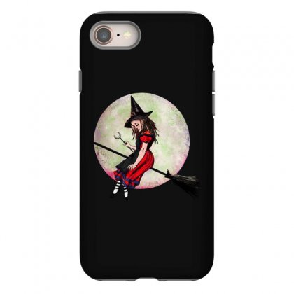 Alice In Wonderland Witch Flying On Broom Halloween Costume Iphone 8 Case Designed By Pinkanzee