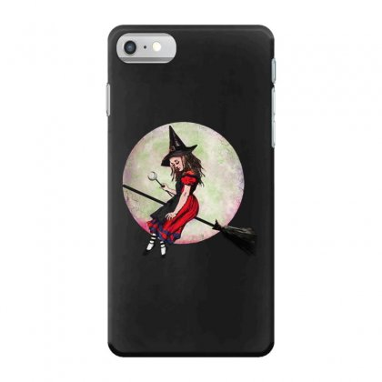 Alice In Wonderland Witch Flying On Broom Halloween Costume Iphone 7 Case Designed By Pinkanzee