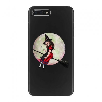 Alice In Wonderland Witch Flying On Broom Halloween Costume Iphone 7 Plus Case Designed By Pinkanzee