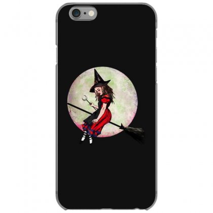 Alice In Wonderland Witch Flying On Broom Halloween Costume Iphone 6/6s Case Designed By Pinkanzee