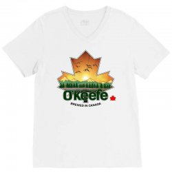 o'keefe brewery   brewed in canada V-Neck Tee | Artistshot