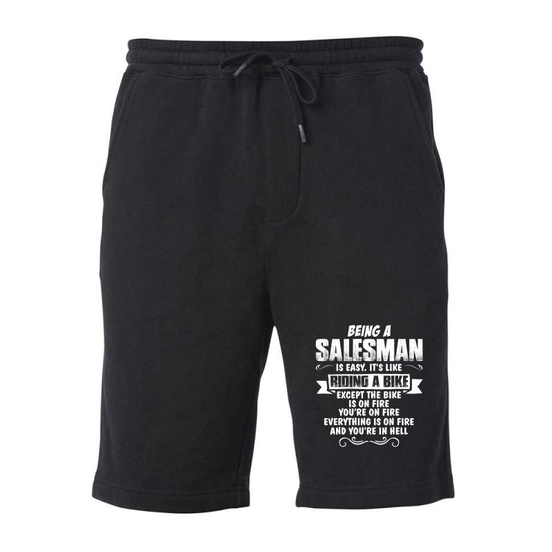 Being A Salesman Fleece Short | Artistshot