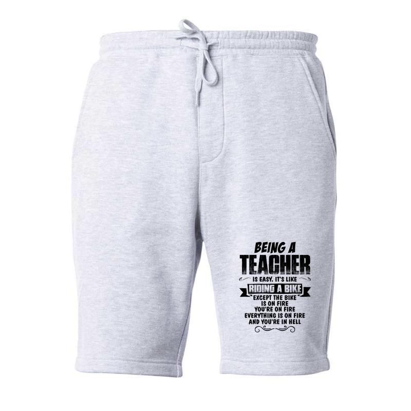 Being A Teacher Copy Fleece Short | Artistshot
