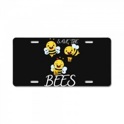the seve bees License Plate | Artistshot