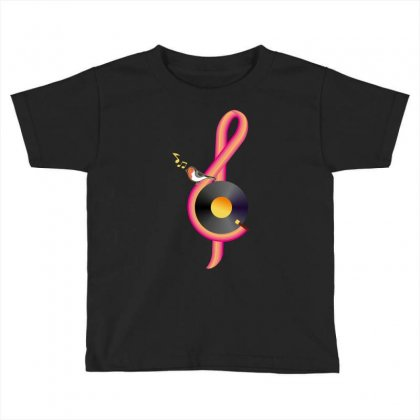 Clef Musical Toddler T-shirt Designed By Wizarts