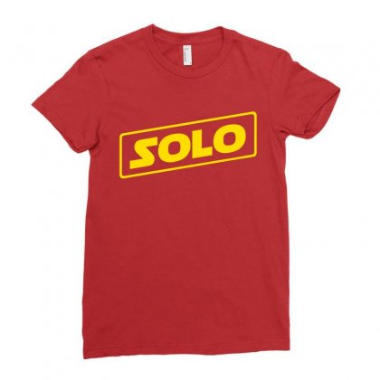 Han Solo Ladies Fitted T-shirt Designed By Fashionartis69
