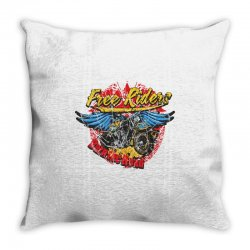 Free Riders, Motorcycle Throw Pillow | Artistshot