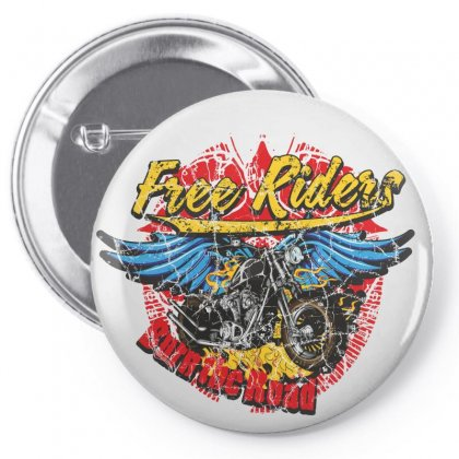 Free Riders, Motorcycle Pin-back Button Designed By Estore