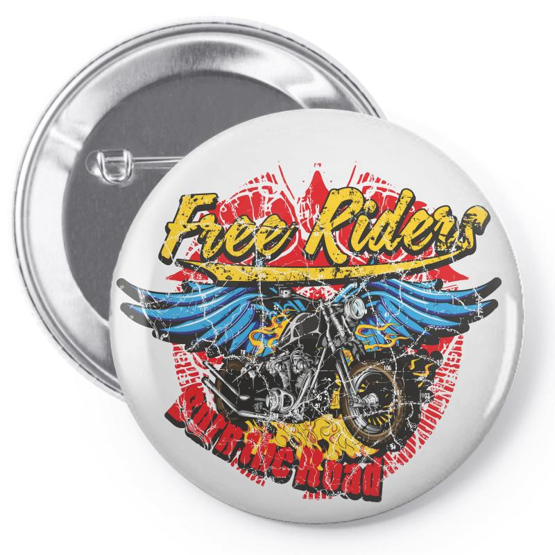Free Riders, Motorcycle Pin-back Button | Artistshot