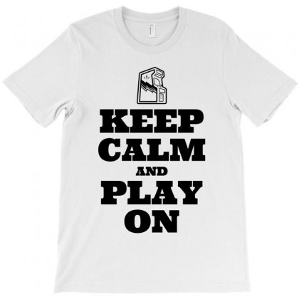 Keep Calm And Play On T-shirt Designed By Citron
