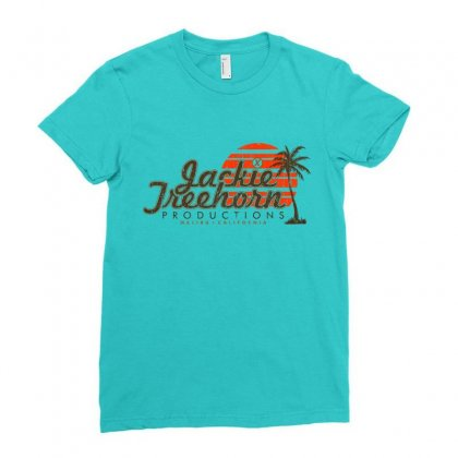 Jackie Treehorn Productions Ladies Fitted T-shirt Designed By Fashionartis69