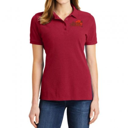 Jackie Treehorn Productions Ladies Polo Shirt Designed By Fashionartis69