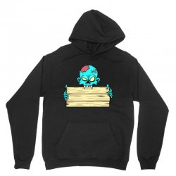 Zombie with a name tag candy bag Unisex Hoodie | Artistshot