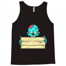 Zombie with a name tag candy bag Tank Top | Artistshot
