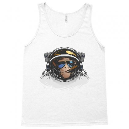 Chimpanzee  Monkey Illustration Outer Space Tank Top Designed By Salmanaz