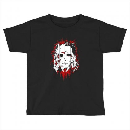 Friend Horror Face Mashup Horror Movies Halloween Toddler T-shirt Designed By Platinumshop