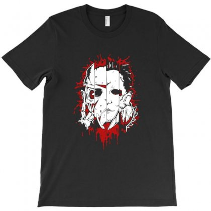 Friend Horror Face Mashup Horror Movies Halloween T-shirt Designed By Platinumshop