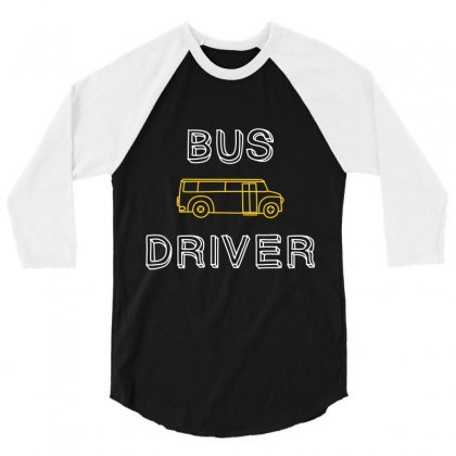 Bus Driver 3/4 Sleeve Shirt Designed By Wizarts