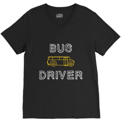 Bus Driver V-neck Tee Designed By Wizarts