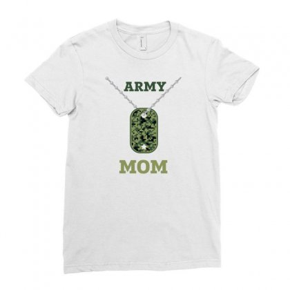 Army Mom Ladies Fitted T-shirt Designed By Zeynepu