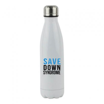Save Down Syndrome Stainless Steel Water Bottle Designed By Oktaviany