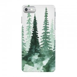 tree watercolor painting pine forest iPhone 7 Case | Artistshot