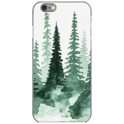 tree watercolor painting pine forest iPhone 6/6s Case | Artistshot