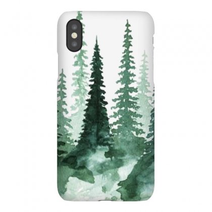 Tree Watercolor Painting Pine Forest Iphonex Case Designed By Salmanaz