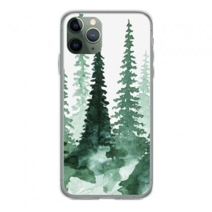Tree Watercolor Painting Pine Forest Iphone 11 Pro Case Designed By Salmanaz