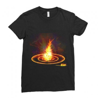 Flame Light Explosion Ladies Fitted T-shirt Designed By Salmanaz
