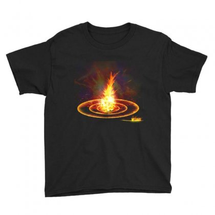 Flame Light Explosion Youth Tee Designed By Salmanaz