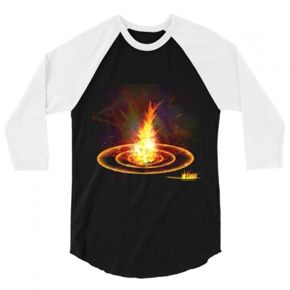 Flame Light Explosion 3/4 Sleeve Shirt Designed By Salmanaz