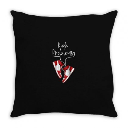 Kick Problems Throw Pillow Designed By Disgus_thing
