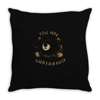 Unbearable Throw Pillow Designed By Al1