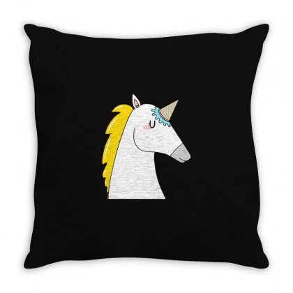 Undercover Unicorn Throw Pillow Designed By Al1