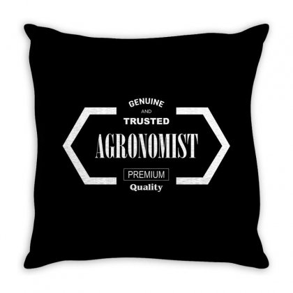 Genuine And Trusted Agronomist Premium Quality For Dark Throw Pillow Designed By Hasret