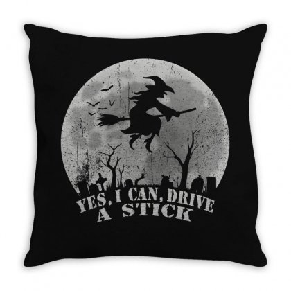 Yes I Can Drive A Stick Throw Pillow Designed By Gurkan
