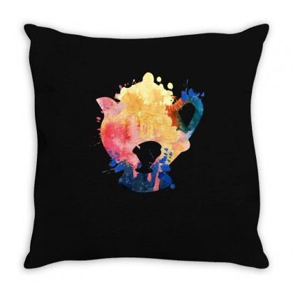 Mrs. Potts Watercolor Throw Pillow Designed By Sengul