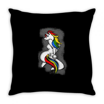 Pony 1 Throw Pillow Designed By Dundun