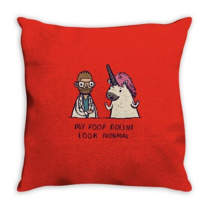 Unicorn Poop Throw Pillow Designed By Al1