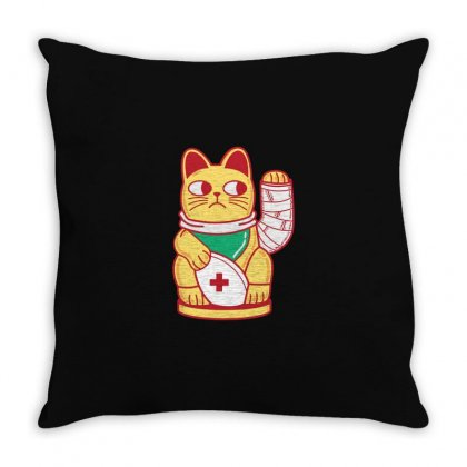 Unlucky Cat Throw Pillow Designed By Al1
