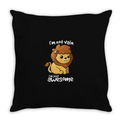 Vain Lion Throw Pillow Designed By Al1