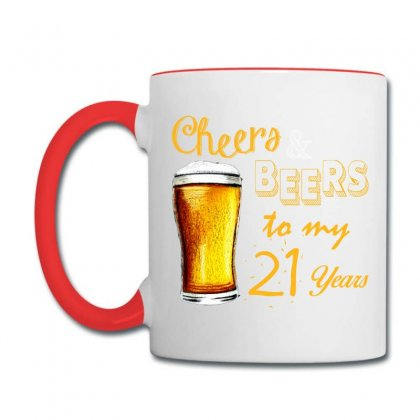 Cheers And Beers To  My 21 Years Coffee Mug Designed By Teresabrador