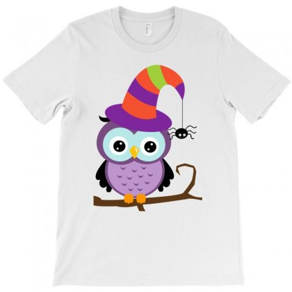 Retro Halloween Owl T-shirt Designed By Igun