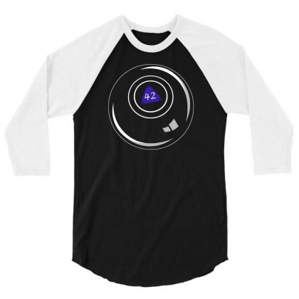 8 Ball Answers Everything 3/4 Sleeve Shirt Designed By Andr1